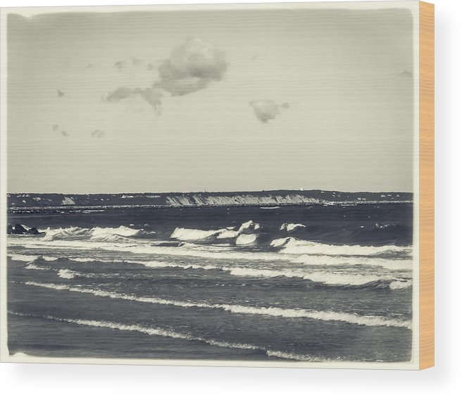 Plymouth Wood Print featuring the photograph Plymouth Cliffs by Frank Winters