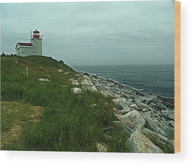 Canada Wood Print featuring the photograph Port Bickerton Lighthouse by George Cousins