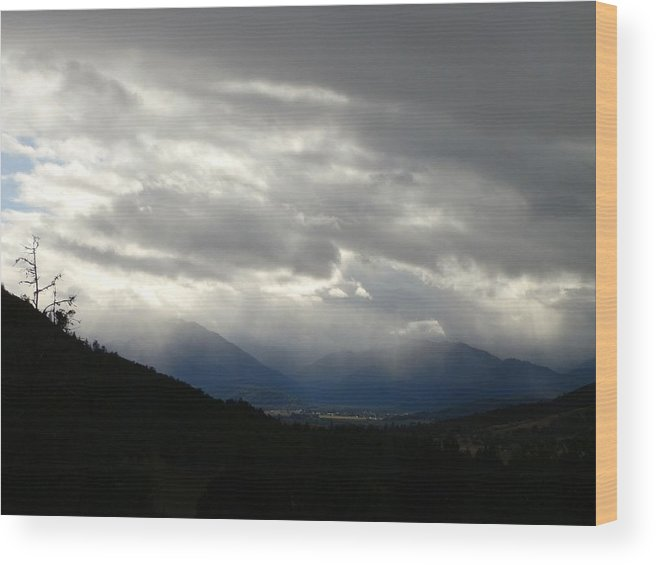 Rain Wood Print featuring the photograph Rain In The Foothills by William McCoy