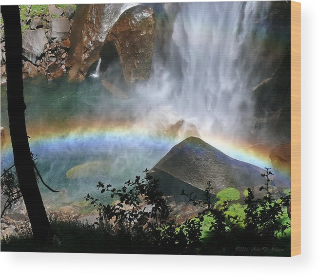 Mist Trail Wood Print featuring the photograph Rainbow In The Mist by Ron D Johnson