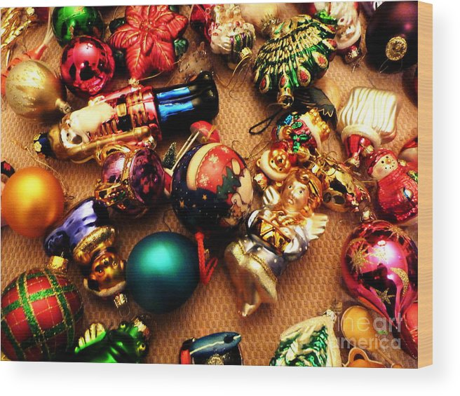 Greeting Card Wood Print featuring the digital art Remembering Cgristmases Past As You Trim This Years Tree. by Raphael OLeary