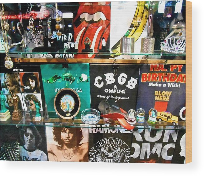 New York City Wood Print featuring the photograph Rock And Roll On St. Marks  Nyc by Joan Reese