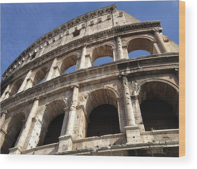 Photo Wood Print featuring the photograph Roman Colosseum by Tilen Hrovatic