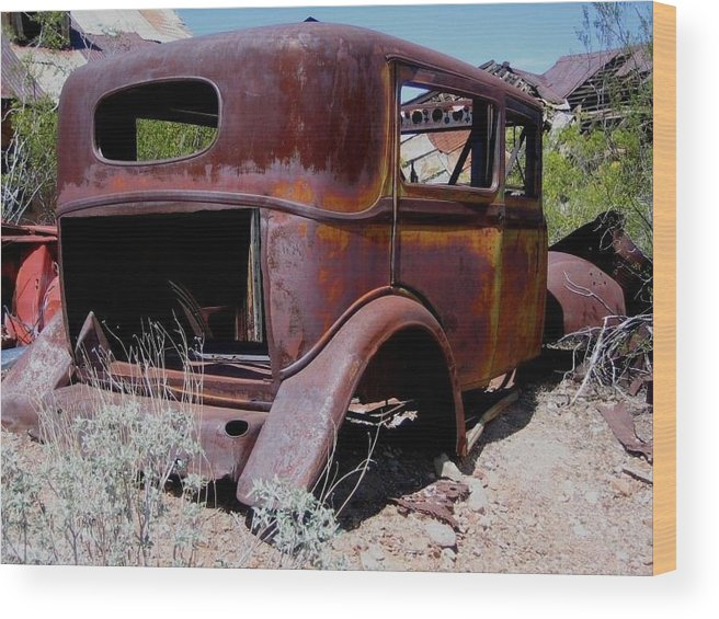 Rust Wood Print featuring the photograph Rust Bucket by Mary Whaley