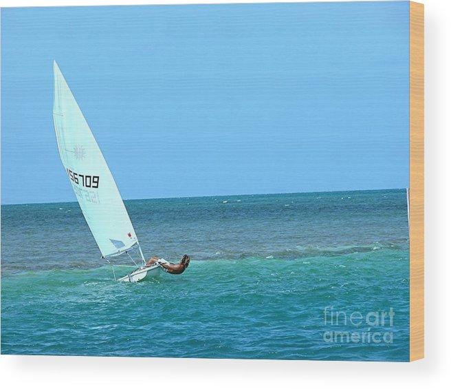 Sailing Wood Print featuring the photograph Sailing by Jim Goodman