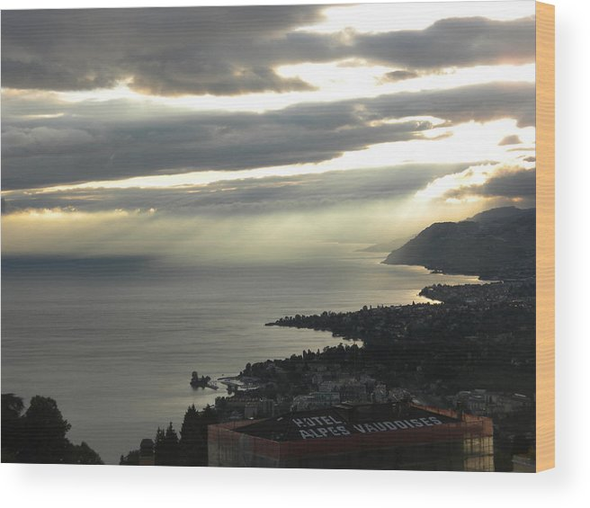 Coastal Landscape Wood Print featuring the photograph Scenic Switzerland by Teresa Tilley