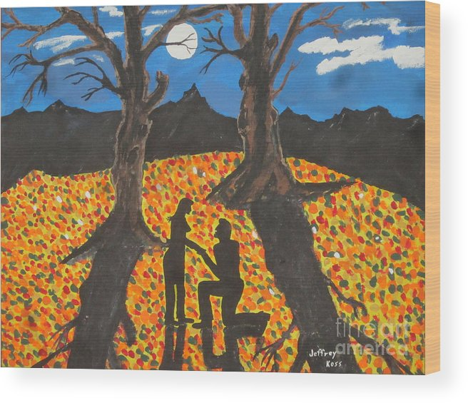 Wood Print featuring the painting She Said Yes by Jeffrey Koss