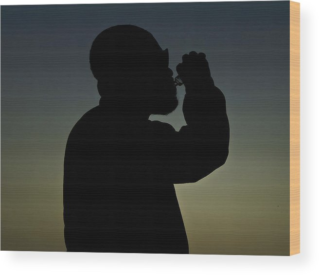 Silhouette Wood Print featuring the photograph Sipping Shadow by Jervon Salters