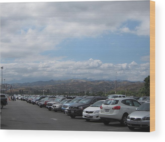 Six Wood Print featuring the photograph Six Flags Magic Mountain - 121210 by DC Photographer