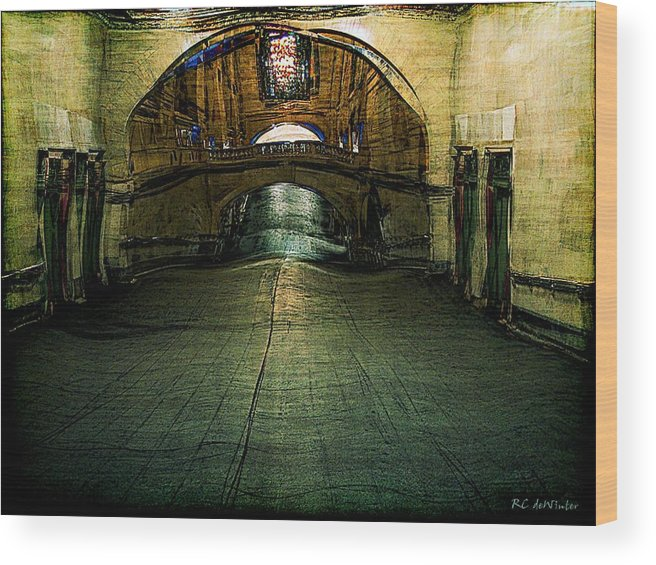 Archway Wood Print featuring the painting Slouching Towards Bethlehem by RC DeWinter