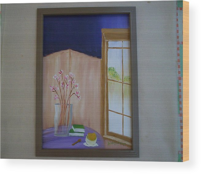 Sherbet Wood Print featuring the painting Sorbet by Harold Messler