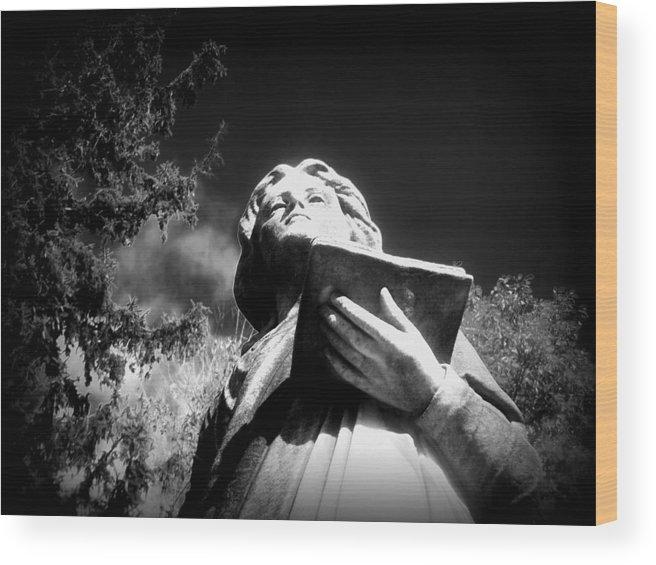 Cemetery Wood Print featuring the photograph St. John by Tara Pfarner