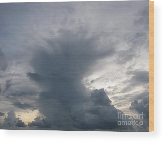 Rain Wood Print featuring the photograph Storm Clouds by Gayle Melges