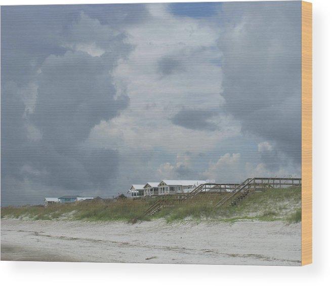 Landscape Wood Print featuring the photograph Storm Monster Blows 1 by Ellen Meakin