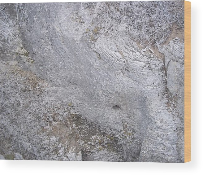Wood Print featuring the photograph Striation by Angela Stout