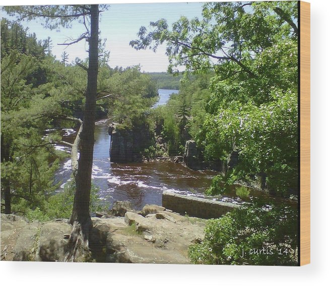 Water Wood Print featuring the photograph Summer On The St. Croix River by Jim Dudley