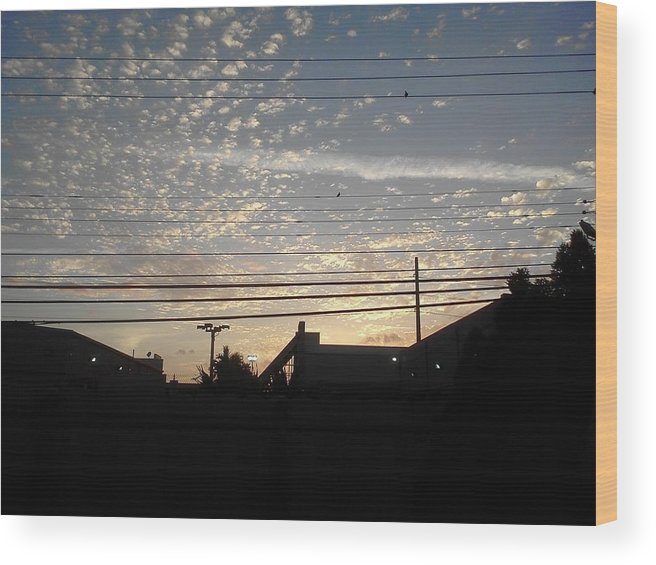 Sunday. Is Almost Gone Wood Print featuring the digital art Sunday Is Almost Over by Yesy Miraballes
