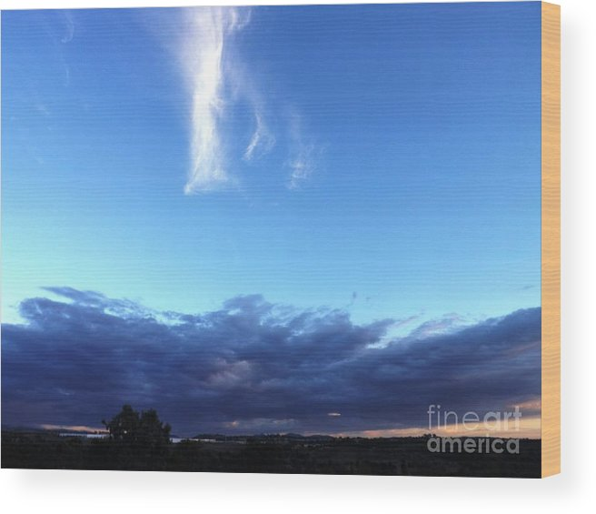 Sunrise Wood Print featuring the photograph Sunrise White Cloud by Jussta Jussta