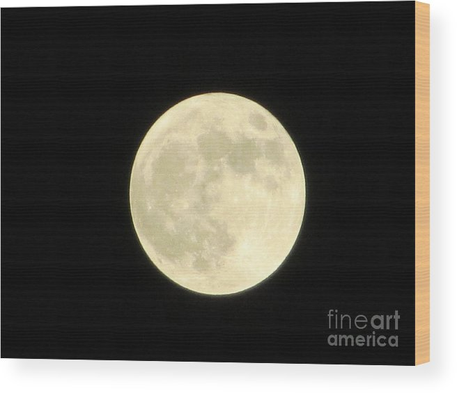 Kathryn Wood Print featuring the photograph Super Moon by Kathryn Smith