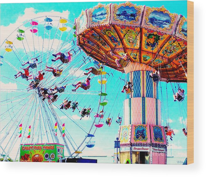 Colorful Wood Print featuring the photograph Swingers Have More Fun by Beth Saffer