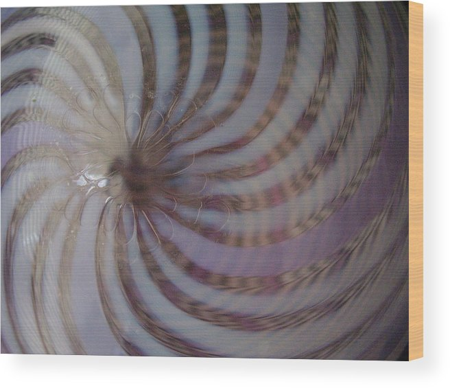 Abstract Wood Print featuring the photograph Swirls by Yvette Pichette