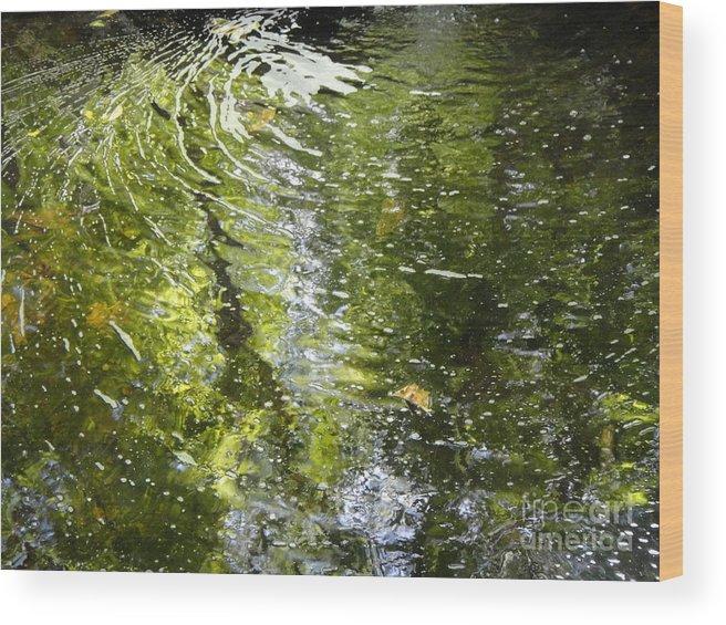 Water Wood Print featuring the photograph Swirls by Ara Wilnas