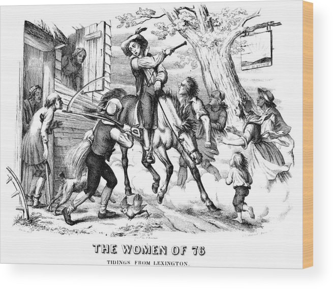 1776 Wood Print featuring the photograph Sybil Ludington, 1776 by Granger