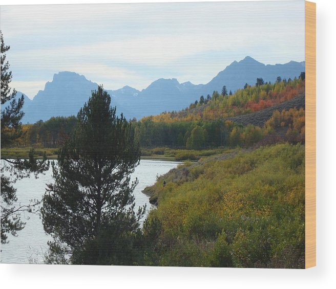 Teton Mountains Wood Print featuring the photograph Tetons by Susan Woodward