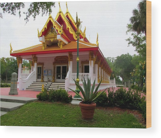 Buddhism Wood Print featuring the photograph Thai Buddhist Temple IIi by Buzz Coe