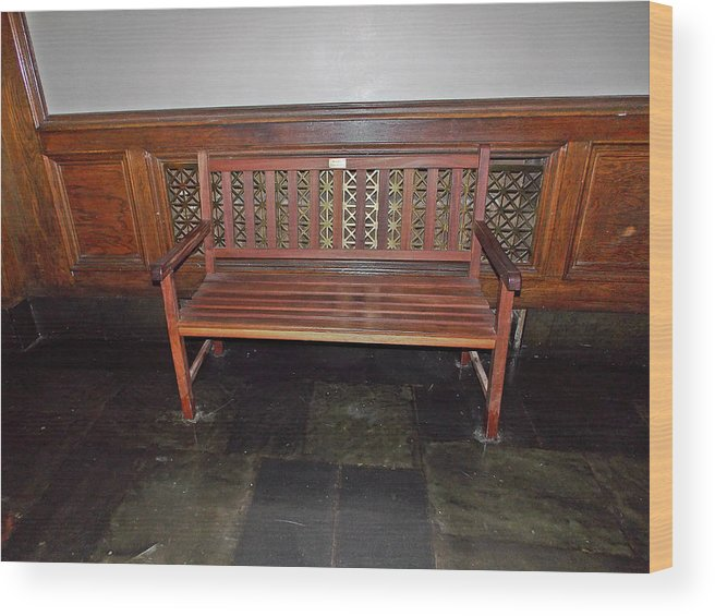 Wood Print featuring the photograph The Bench by Regina McLeroy