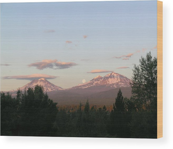 Moon Wood Print featuring the painting The Best Moon by Jennifer Lake