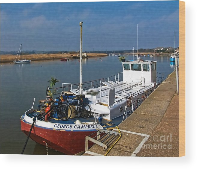 Topsham Wood Print featuring the photograph The George Campbell by Susie Peek