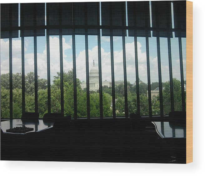 America Wood Print featuring the photograph The Nmai Research Room by Stacy C Bottoms