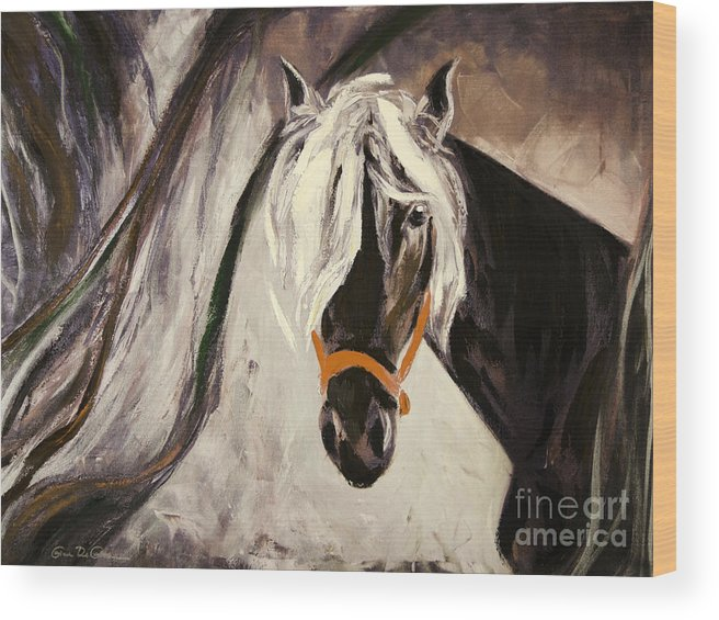 Horses Wood Print featuring the painting The Performer by Gina De Gorna