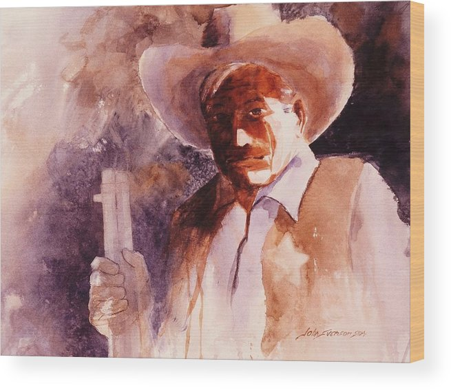 John Svenson Wood Print featuring the painting The Sheriff by John Svenson