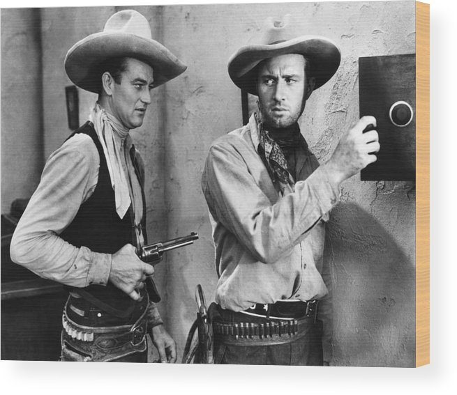 1930s Movies Wood Print featuring the photograph The Star Packer, John Wayne, Left, 1934 by Everett