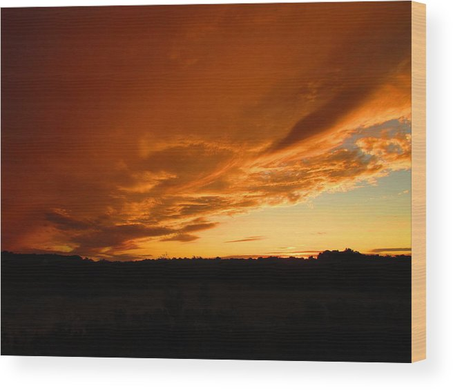 Sun Wood Print featuring the photograph Times Like These by Joren Smith