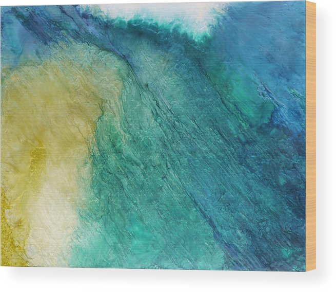Water Wood Print featuring the painting Towards The Light Sold by Lia Melia
