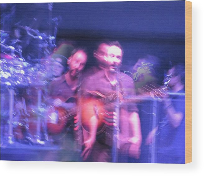 Dmb Wood Print featuring the photograph tripy photo of Dave Matthews by Aaron Martens