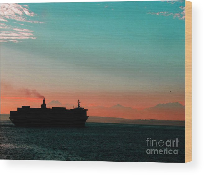 Maritime: Ron Tackett Wood Print featuring the photograph Under Way by Ron Tackett