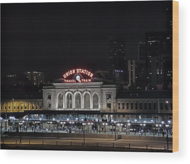 Union Station Wood Print featuring the photograph Union Station Denver Colorado 2 by Ken Smith
