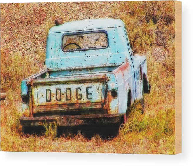 Dodge Wood Print featuring the painting Unsuccessful Dodge by Sandy MacGowan