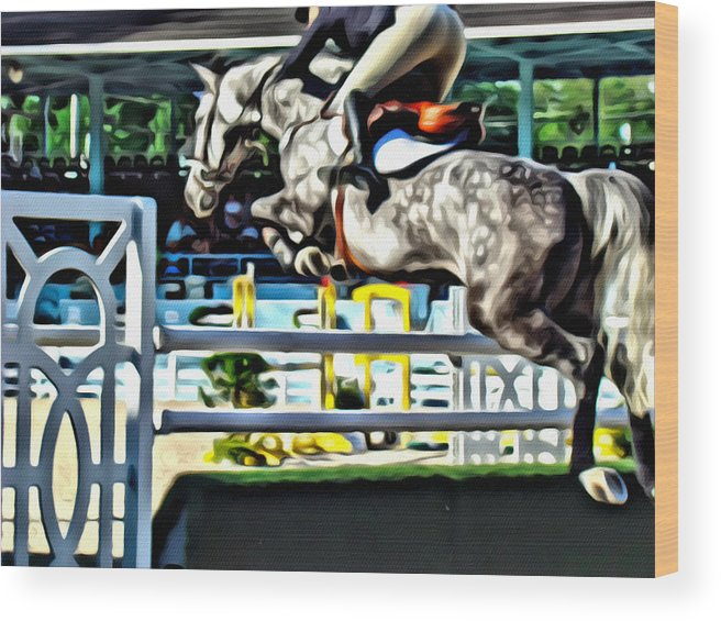 Horse Wood Print featuring the photograph Up by Alice Gipson