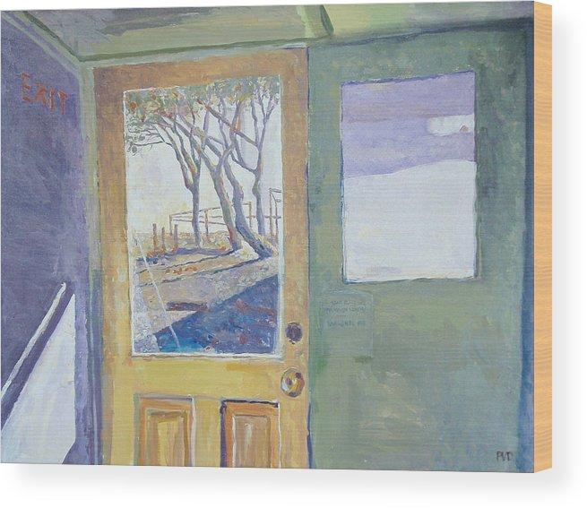 Doorway Wood Print featuring the painting View Beyond. by Vaughan Davies