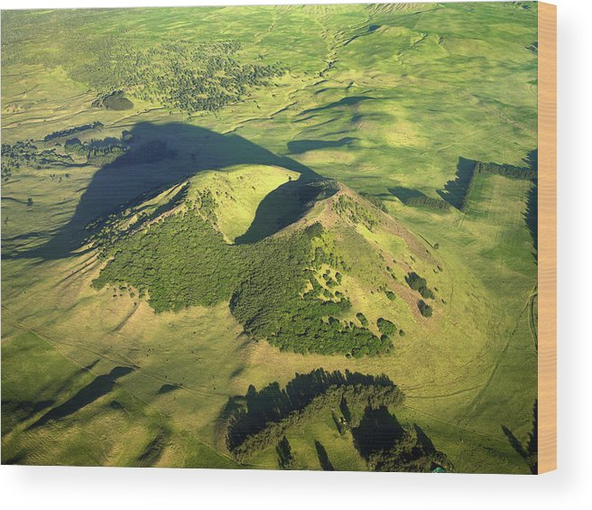 Landscape Wood Print featuring the photograph Volcanic Mound by Steve Allen/science Photo Library