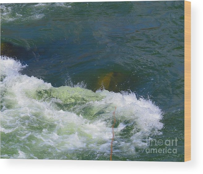 Great Falls Wood Print featuring the photograph Water Detail 01 by Rrrose Pix