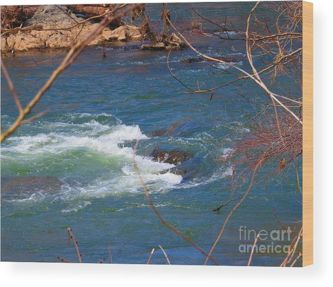 Great Falls Wood Print featuring the photograph Water Detail 03 by Rrrose Pix