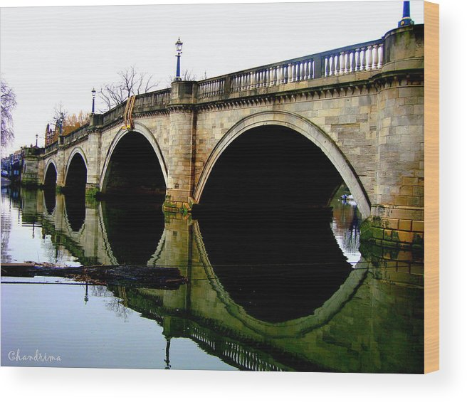 Bridge Wood Print featuring the photograph Water Under The Bridge by Chandrima Dhar