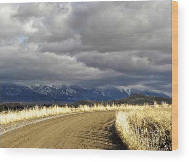 Mountains Wood Print featuring the photograph Where The Mountains Meet You by Tisha Clinkenbeard