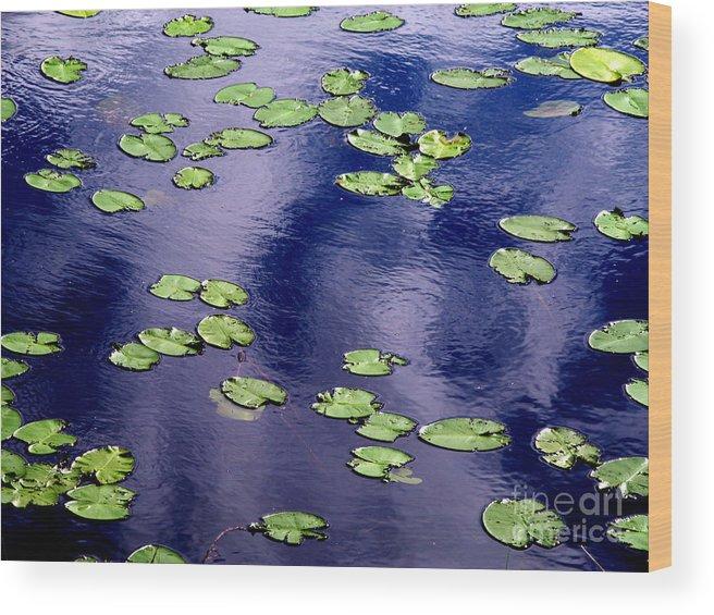 Lake Wood Print featuring the photograph Wind Whirling The Lake by Jukka Otsamo